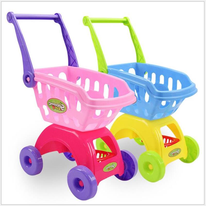 Children Play Kids Toys Simulation Shopping Cart Mini Trolleys With Fruit Vegetable Educational Kids Toys Christmas Birthday Gifts