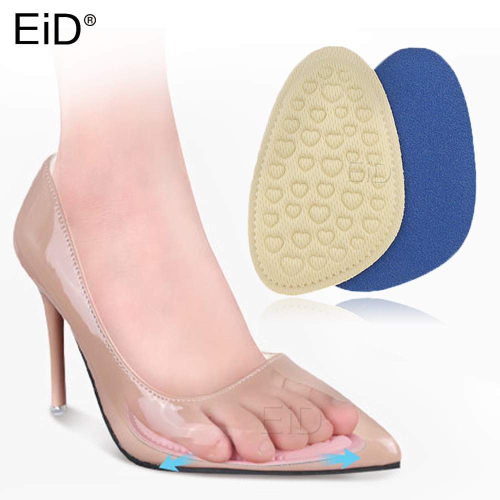 EiD Memory foam Insoles Forefoot Pads for Women High Heel Shoes Foot Blister Care Toes Insert Pad sponge Insole Pain Relief