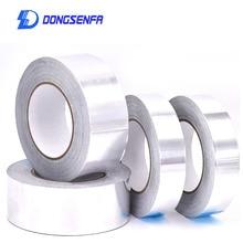 5cm*20m Aluminium Foil Adhesive Sealing Tape High Temperature Resistant Heat Insulation Thermal Resist Duct Foil Adhesive Tape