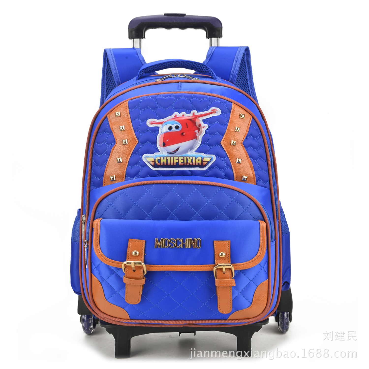 New Style Ming Qi Six-Wheeled Young STUDENT'S Trolley Bag 1-3-6 Grade CHILDREN'S Rucksack Factory Price