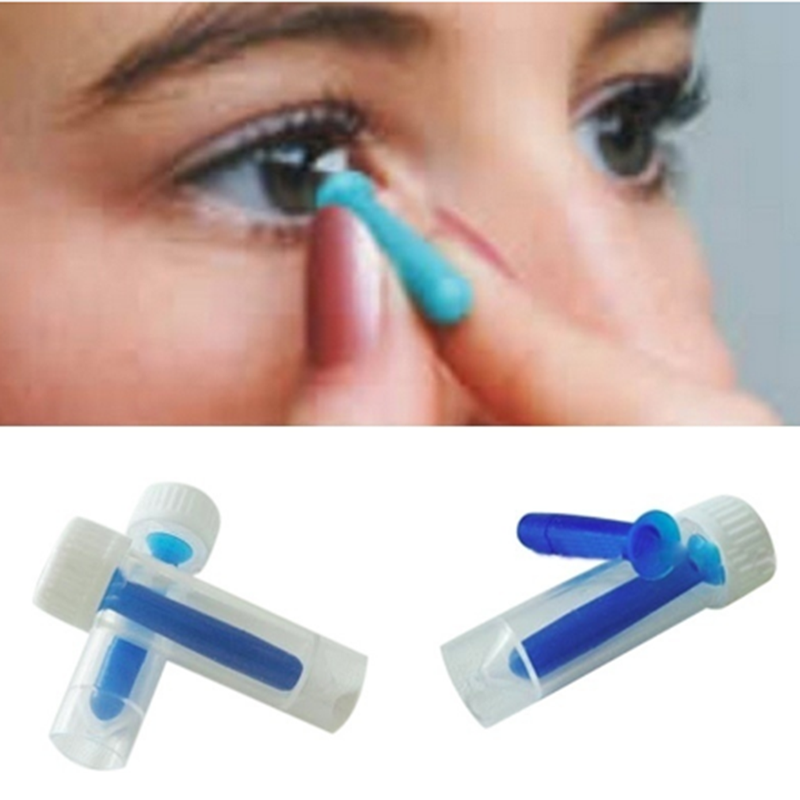 Silicone Contact Lens Stick Sucker Suction Cup Soft Gel Portable Travel Mini Contact Lens Inserter Remover Tool