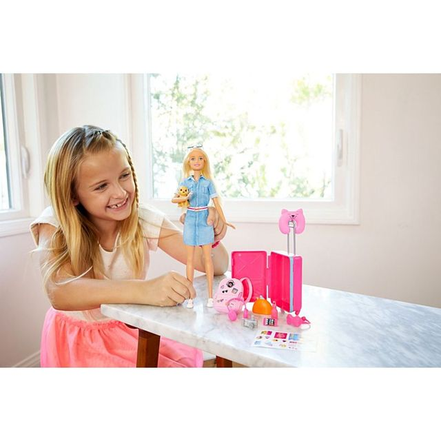 Original Barbie Dolls Brand Travel Girl with Puppy Assortment Fashionista Doll Toys for Children Birthday Gift Reborn Bonecas 4