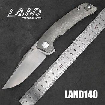 LAND 140 Pocket Folding Knife VG10 Blade Needle Bearing TC4 Handle Outdoor Camping Hunting Tactical Survival Tool Knives 6