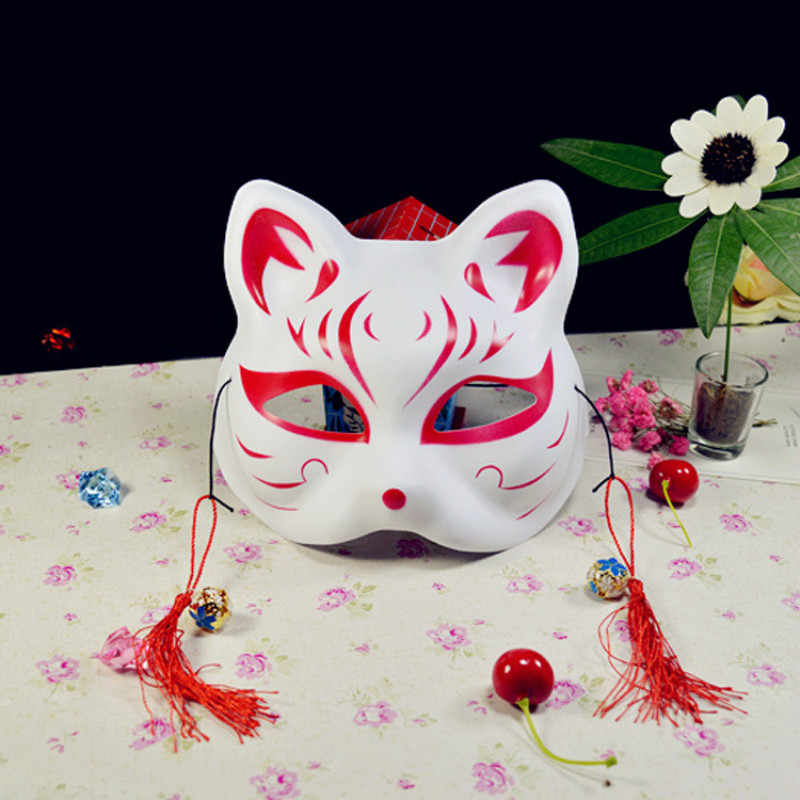 Hot Cosplay Anime The Light Of The Fireflies Forest Natsume Yuujinchou Fox Mask Halloween Fox Cat Face Exquisite Fashion Gift