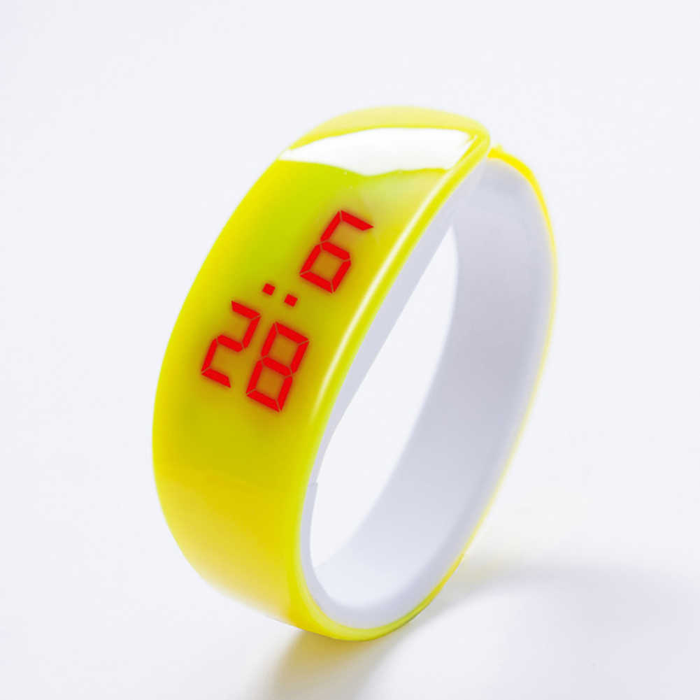 موضة سوار رياضي LED إلكترونيات شاشة ديجيتال سيليكون باند الرجال النساء ساعة معصم هدية reloj mujer relogio feminino ne