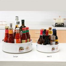 360 вращающийся лоток кухонные контейнеры для хранения специй банка для еды закуска лоток для ванной комнаты Нескользящая закуска сушеная т...