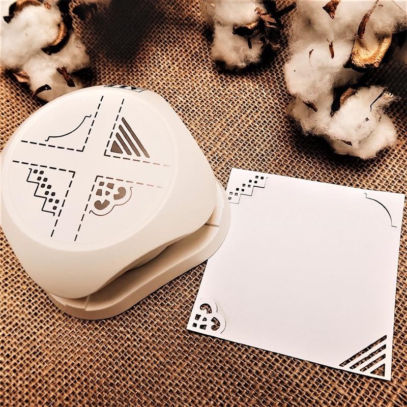 ALI Paper Art 4-in-1 styling puncher, label rounder, bookmark corner decorator, DIY wedding card puncher diary scrapbook tool