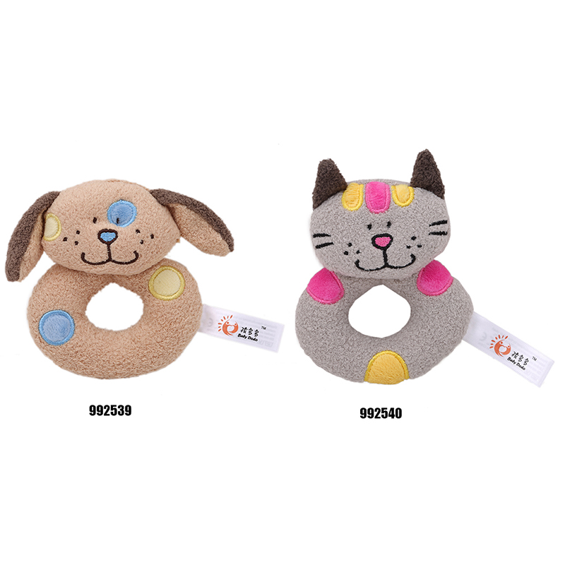 Hot Sale Baby Rattles Soft Plush Toys Doll Crib Bed Hanging Hand Catches Animal Toy Doll Kids Toy