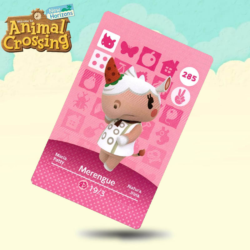 285 Merengue Animal Crossing Card Amiibo Cards Work For Switch NS 3DS Games