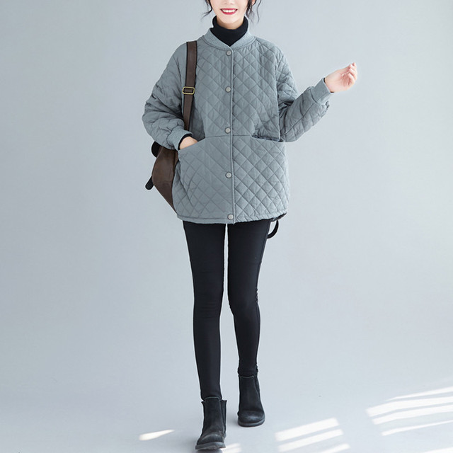 Aransue 2020 New Cotton Padded Coat Thickened Baseball Collar Jacket Short Design Outer Garment For Female Autumn Winter Top 4