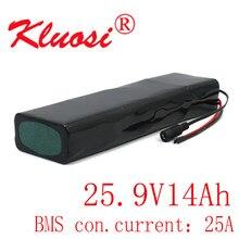 Kluosi 7s4p 14ah 29.4v 24v bateria de lítio 18650 com 25a bms para scooter elétrico ebike scooters bicicleta cadeira de rodas