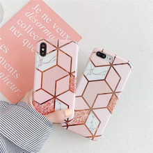 Luxury Plating Marble phone case For iphone XS MAX XR X 6 6s 7 8plus Diamond Glossy TPU Soft Shell