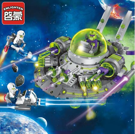 Models building toy 1611 Space Series Model Alien Cruiser 339Pcs Building Blocks compatible with  toys & hobbies for child