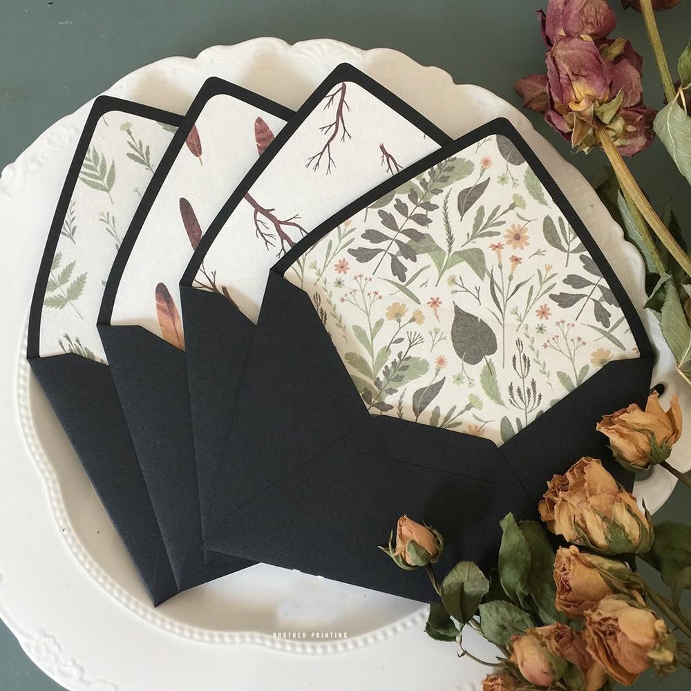 5pcs/pack Retro Envelopes With Lining Creative Paper Envelopes DIY Decorative Envelopes For Invitation, Wedding, Anniversity