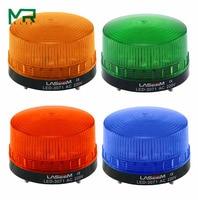 Luz de advertência do sinal do estroboscópio diodo emissor de luz 3071 12 v 24 v 220 v luz indicadora led lâmpada pequena luz intermitente alarme de segurança|Luzes indicadoras| |  -