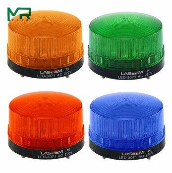 Strobe Signal Warning Light LED -3071 12V 24V 220V Indicator Light LED Lamp Small Flashing Light Security Alarm