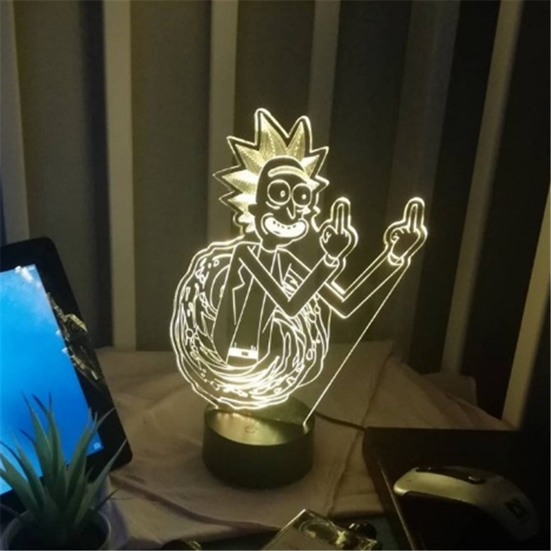Rick 3D Night Light Rick And Morty LED Lamp Home Decoration Lampara Cartoon Kids Gifts Home Decor Lighting Creative LED Lamps