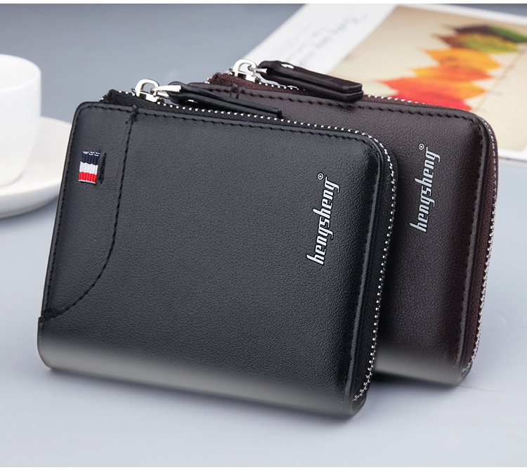 H2bd678d5ce354fcc947357d290787dc1K - New Men's Genuine Leather Short Wallet Fashion Luxury Brand Coin Purse Driver's License Bag Purse For Men card Mini Wallet