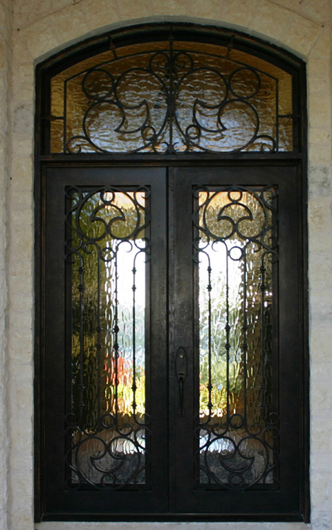 Shanghai Hench Brand China Factory 100% Custom Made Sale Australia Modern Wrought Iron Front Doors