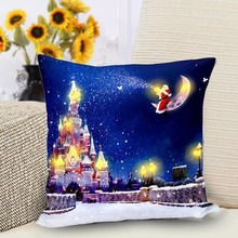 Pillow Cover LED Light Up 45x45cm Soft Christmas Decoration for Office Car Cafe DAG-ship