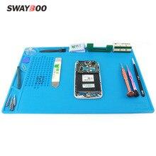 Swayboo Wärme-beständig BGA Löten Station Silikon Wärme Pistole Isolierung Pad Reparatur Werkzeuge Wartung Plattform Schreibtisch Matte