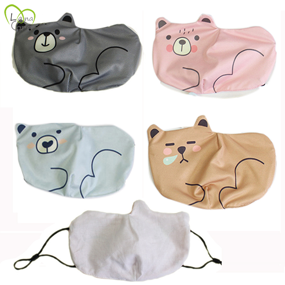 2-8 Years Old Cartoon Children Washable Masks Kids Mask Nose Filter Lovely Face Mask
