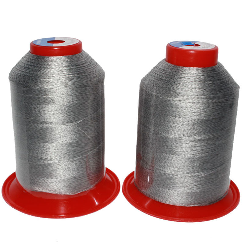 A linha condutora antiestática da linha de costura (210d/3), pode ser usada para sacos antiestáticos, sapatas antiestáticas.