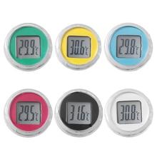 1 шт. Мини водонепроницаемый мотоцикл цифровой термометр водонепроницаемые часы интерьер автомобиля Часы инструменты Мотоцикл аксессуары