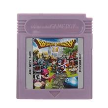 닌텐도 GBC 비디오 게임 카트리지 콘솔 카드 용 Dragon Warrior I & II 영어 버전