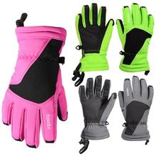 Men Women Windproof Waterproof Warm Cycling Ski Gloves  Motorcycle Winter Skiing Climbing Waterproof Snow Gloves Free Shipping