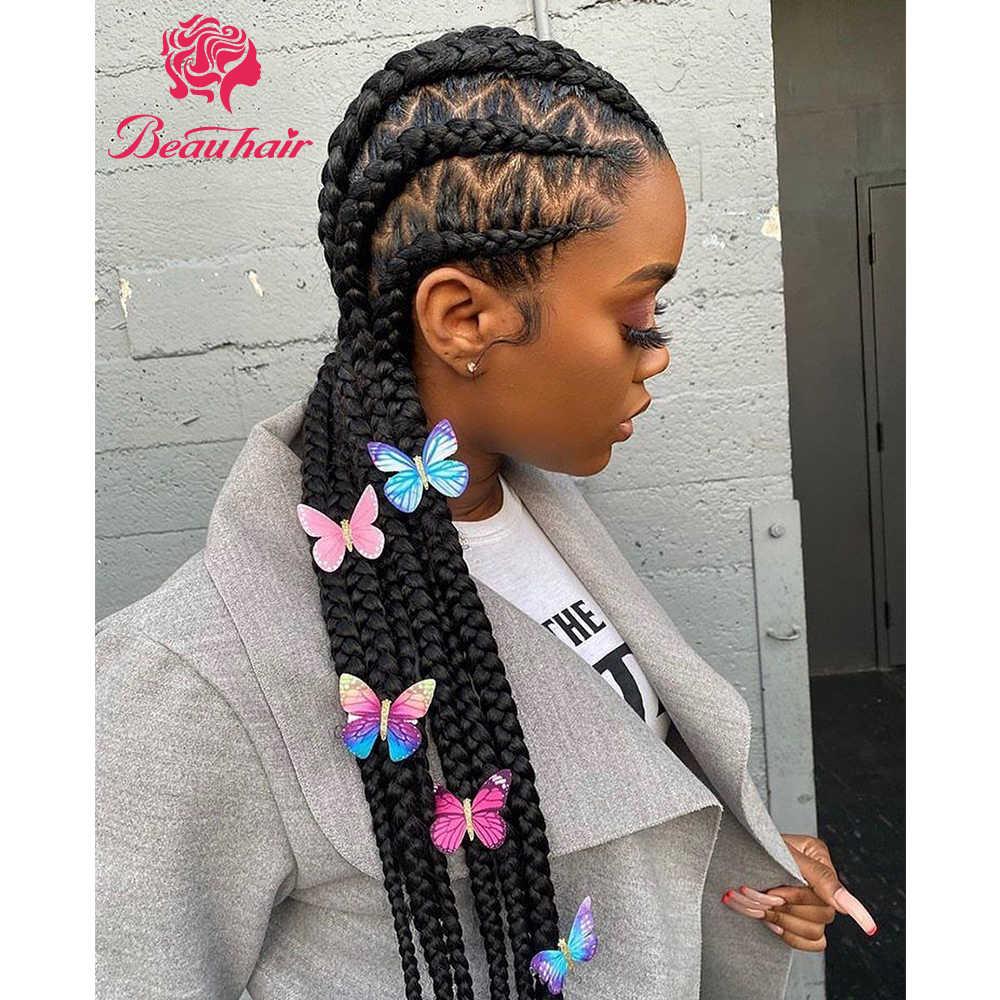 Pelucas de cabello humano brasileño, peluca de cabello humano con encaje Frontal 360, peluca Frontal de encaje, pelucas de cabello humano rectas Remy para mujeres Beauhair