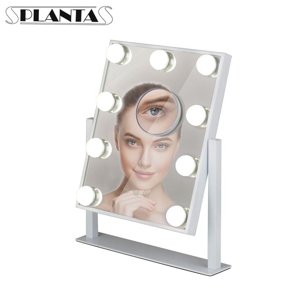 Зеркало PLANTA PLM 01109B Grand Hollywood, 3 вида подсветки, дополнительное 10х зеркало|Зеркала для макияжа|   | АлиЭкспресс