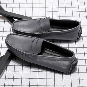 Image 5 - Мужские мокасины без застежки SURGUT, черные кожаные туфли в деловом стиле, повседневная обувь для свадьбы, лоферы, большой размер 38 49, 2019