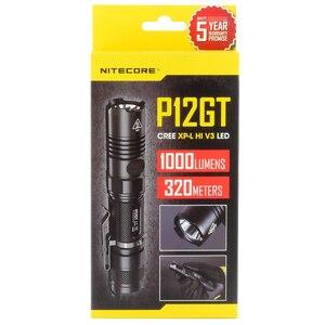 Image 3 - Nitecore P12GT Cree XP L Hi V3 Led 1000 Lumen Tactische Zaklamp Met 18650 Oplaadbare Batterij 7 Modus Pocket Edc Gratis verzending