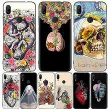 Medical Human Organs Brain Meridian Kidney Black Cover Phone Case for