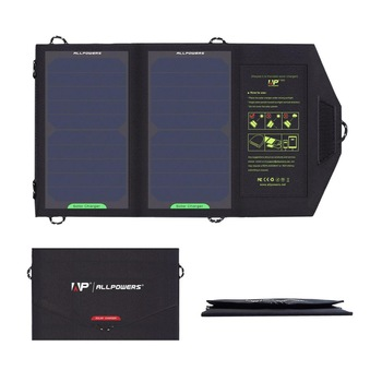 ALLPOWERS Solar Panel 10W 5V Solar Charger Portable Solar Battery Chargers Charging for Phone for Hiking  Camping Outdoors 1