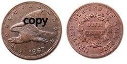 США 1857 новый Летающий орел цент копия украшения монеты