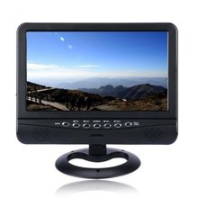 Mini TV 9.5 inch TFT LCD Color Analog TV with Wide Angle Support FM function & TXT Reader Function Black Model: 901 televisions 9 5 inch tft lcd color analog portable tv with wide view angle support sd mmc card usb flash disk black js 900