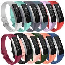 Fitbit-relojes de Alta calidad en 14 colores, pulsera de cristal pequeña de repuesto, correa de silicona con cierre para Alta HR