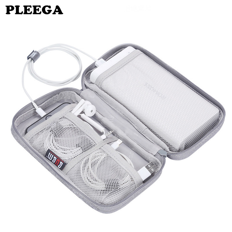 PLEEGA Portable Power Source Storage Bag Digital Cable,Data Line Storage Bags Earphone Pouch Outdoor Travel Organizer