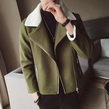 Новое осенне зимнее мужское шерстяное пальто из овечьей шерсти