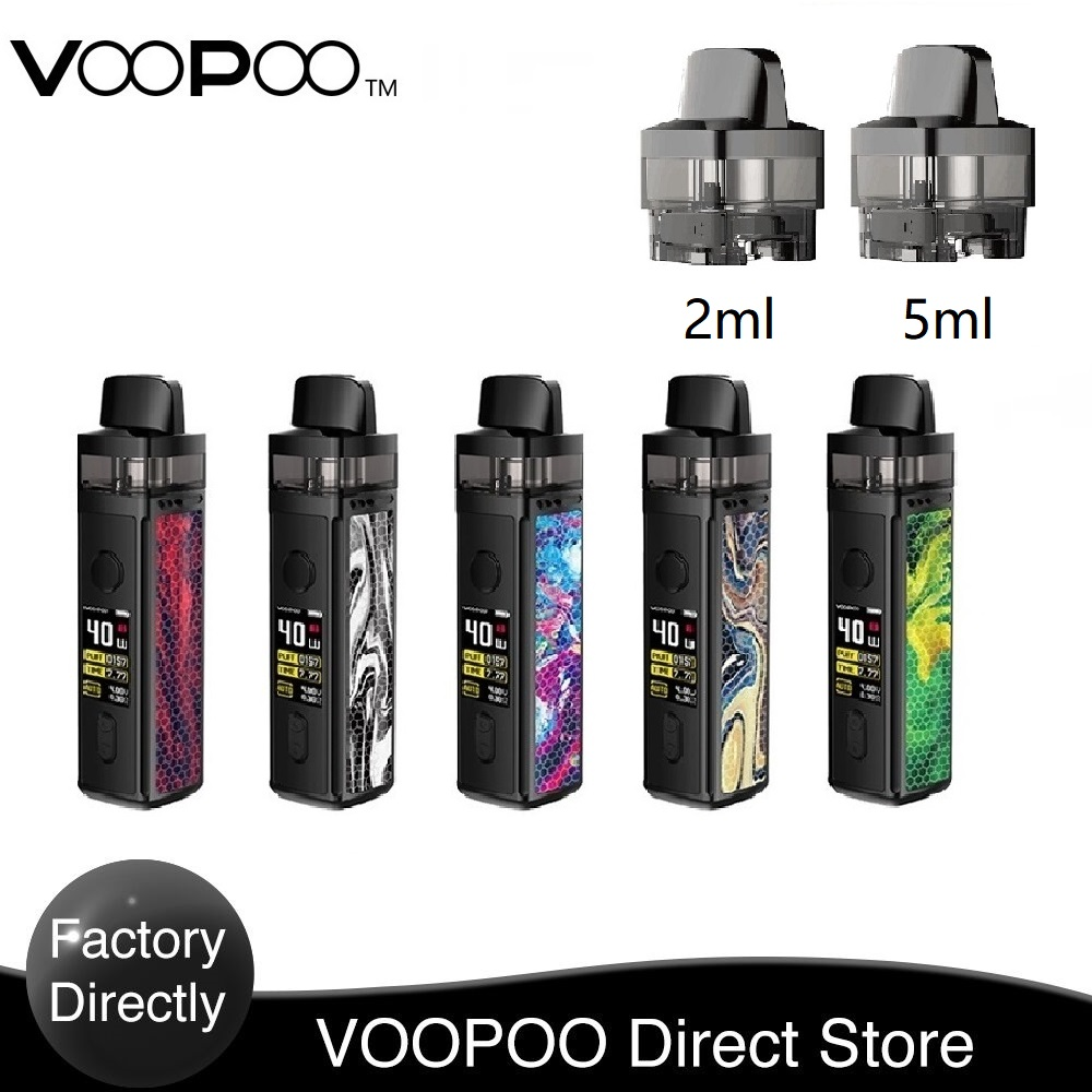 Original VOOPOO VINCI Pod Kit With 1500mah Battery & 5.5ml Capacity & 0.3ohm PNP Pod Electronic Cigarette Vape Pod Kit