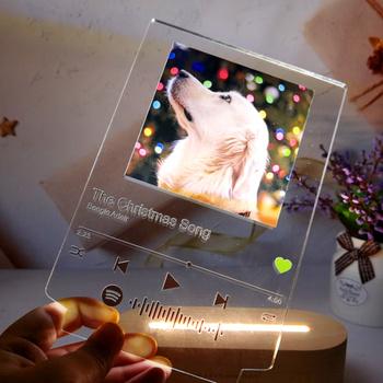2021 Hot Deal dostosowane 3D kolorowe zdjęcie lampka nocna Spotify uwaga biurko dekoracyjna z lampkami walentynki kochanka prezent bezstopniowe przyciemnianie tanie i dobre opinie LCEMDGS ROHS CN (pochodzenie) Łóżko pokój WHITE W górę iw dół LC130 Brak Dotykowy włącznik wyłącznik Żarówki led