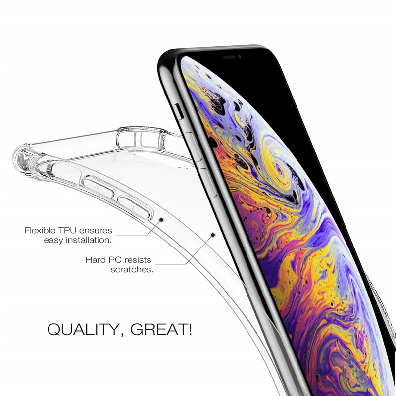 Thin Clear For iPhone 11 pro max 11pro Silicone Case For iphone 6 6s 7 8 Plus x xr xsmax Phone Case For iPhone 5s se XS MAX Case