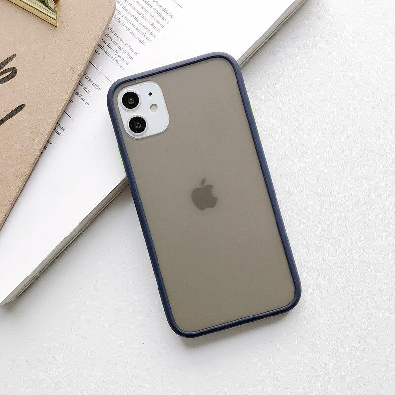 Прозрачный противоударный чехол для телефона для iPhone 11 Pro X XR XS Max 6 6s 7 8 Plus, чехол-бампер, силиконовая матовая прозрачная задняя крышка - Цвет: F