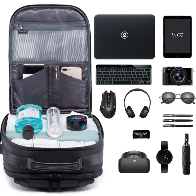 Bange 15.6'' Laptop Backpack External USB Charge Computer Backpacks Anti-theft Waterproof Travel Backpack  for Men Women 2