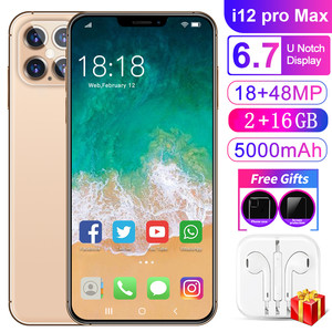 I12promax Cross Border New Style Smartphone 6.7 Inch Really Bang Big Screen Face Unlock Manufacturers Direct Selling Mobile Phon