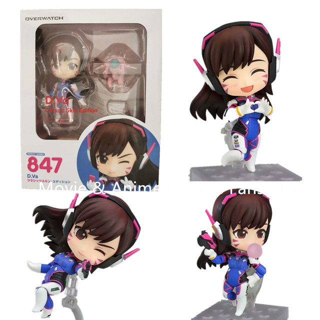 10cm Overwatches 847 D.VA Classic Skin Edition PVC Action Figures Model Toys Gift Doll