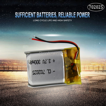 3.7V 220mAh 702025 Li-polymer Rechargeable Battery for Mp3 Bluetooth headset speaker video recorder wireless mouse Li-ion cells image