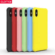 Non-slip Fashion Phone case For IPhone xs max xr x 8plus 7 6s plus case Camera Protective case Plain black yellow green red pink zs002 colorful protective pu leather case for iphone 5 white deep pink yellow pink